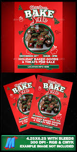 christmas bake sale flyer template by megakidgfx graphicriver