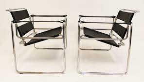 mid century modern vintage pair of marcel breuer wassily chairs