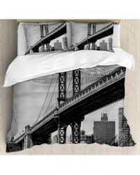New York City Duvet Cover Vintage Tapestry Bridge In New York City Printed Wall Hanging