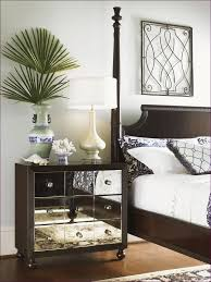 Black Glass Bedroom Furniture by Bedroom Distressed Black Nightstand Mirrored Glass Night Tables