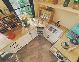 mini kitchen cabinets for sale dollhouse kitchen cabinets etsy