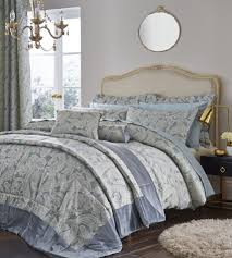 catherine lansfield opulent jacquard duck egg bedspread