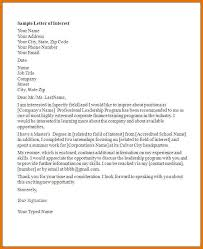 sample expression of interest letter for employment cover letter