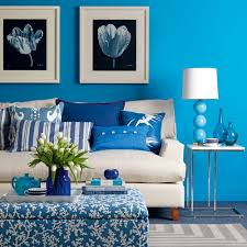 Attractive Brown And Blue Color Scheme Living Room Part  Pretty - Living room with color