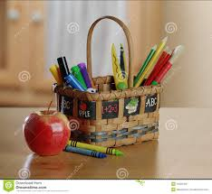 kids art and craft basket royalty free stock photos image 13220458