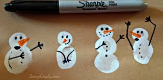 diy fingerprint snowman winter craft for kids crafty morning