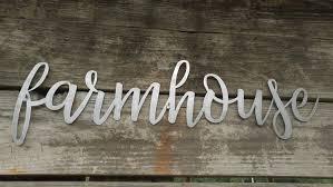 farmhouse metal sign farmhouse word art metal words rustic wall
