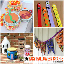 Halloween Crafts For Little Kids - 25 spooky easy to make halloween crafts for kids