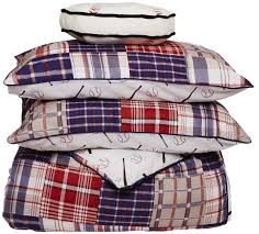 Red And White Comforter Sets Red White Blue Baseball Bedding Twin Or Full Patwork Plaid