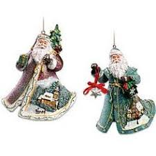 kinkade world santa collection ornament of