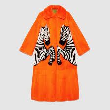 mink coat with zebra intarsia gucci women u0027s coats u0026 furs