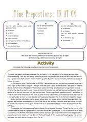 adjectives with prepositions esl worksheets of the day
