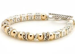 personalized bracelet 14k gold filled sterling silver bead personalized