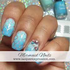 step by step nail art tuesday mermaid scale nails