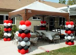 mickey mouse party decorations balloon columns for a mickey mouse party two