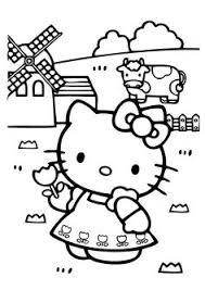 kitty birthday coloring pages print printable treats