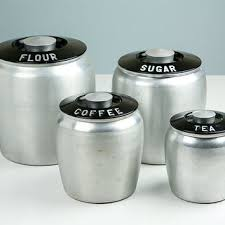 retro kitchen canisters set vintage kromex canisters flour sugar from retroburgh mid