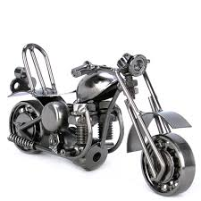 nuts bolts metal motorbike ornament desk gifts