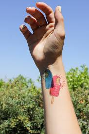 how to print your own temporary ice cream tattoos this mess is ours