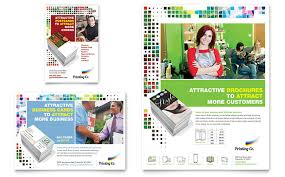 printing services brochures printing company brochure template