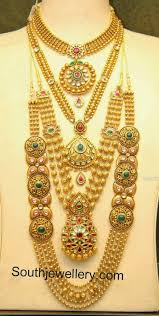 new collection gold necklace images Malabar gold antique necklace and gundla mala collections jpg