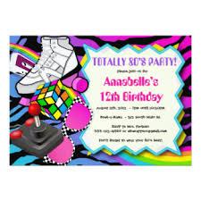 theme invitations 80s invitations announcements zazzle
