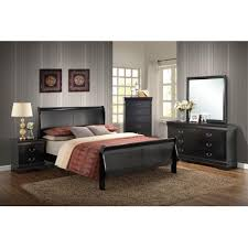 Bedroom Dresser Mirror Piedmont 5 Black King Bedroom Suite With Bed Dresser