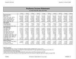 the proforma income statement hubpages