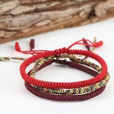 knot rope bracelet images Handmade knots lucky rope bracelet men tibetan buddhist love lucky jpg