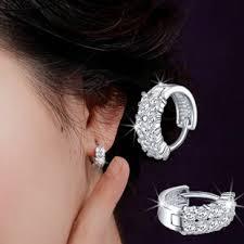 small diamond hoop earrings 925 silver in ear earrings small hoop earrings