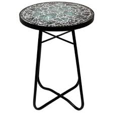 Side Accent Table Moroccan Mosaic Blue Square Side Accent Table Free Shipping