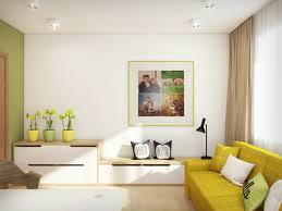 mustard loveseat interior design ideas