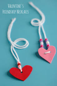 friendship heart s friendship necklaces make and takes
