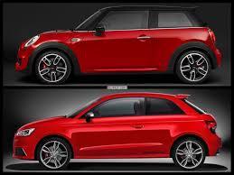 photo comparison mini john cooper works f56 meets audi s1 quattro