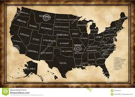 States Map Of Usa by Map Of Usa With States Stock Photo Image 22370640