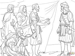 joshua and the israelites cross the jordan river coloring page