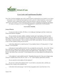 cover letter checklist george mason university of law