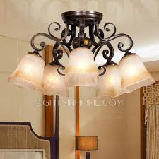 rustic 5 light twig type dining room ceiling lights
