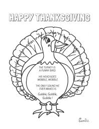 coloring pages preschool turkey poems thanksgiving coloring