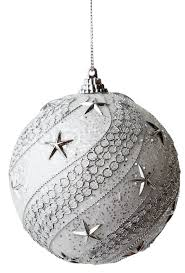 silver bauble with clipping path stock photo colourbox