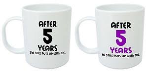 5 year anniversary gifts for husband after 5 years him mugs 5th wedding anniversary gifts for