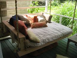Porch Swing With Cushions Glamorous Hanging Porch Swing Bed 13 With Additional Interior