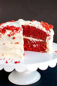 red velvet cake with cream cheese frosting homemade hooplah