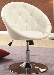 Office Bar Stool Chair Vanity Stool Seat Swivel Chair Accent Round Tufted Back Home