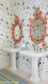 278 best wallpapered bathroom images on pinterest bathroom ideas