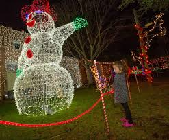 photos holiday lights shine bright at kenner christmas village in