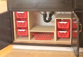 kitchen sink cabinet organizer undersink cabinet organizer with pull out baskets the kim six fix