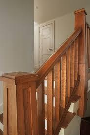 custom craftsman quartersawn white oak handrail square balusters