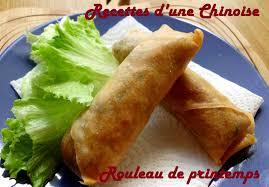 recettes d une chinoise rouleau de printemps chinois 春卷 chūn juǎn
