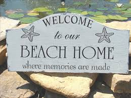 beachy signs and sea stencils create signs and decor